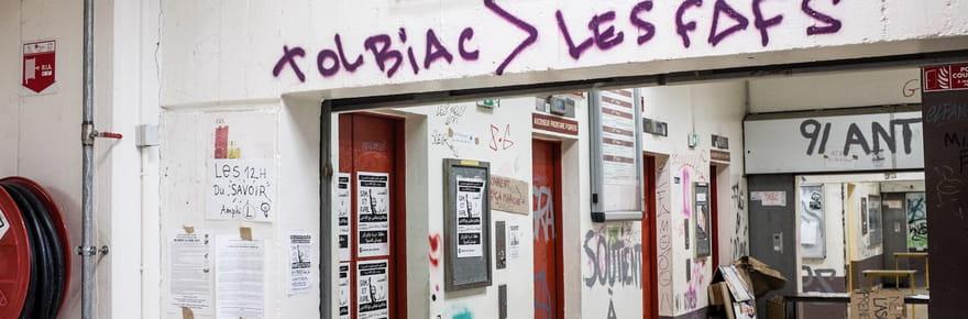 Tolbiac: la fac parisienne évacuée, les images du site
