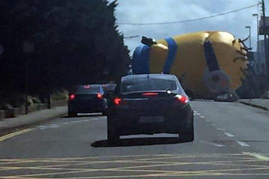 Irlande: un Minion géant bloque une route et sème la panique [VIDEO]