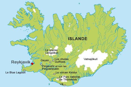 Carte Islande