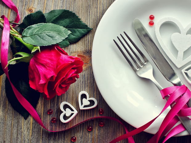 10idées de déco de table pour une Saint-Valentin en amoureux