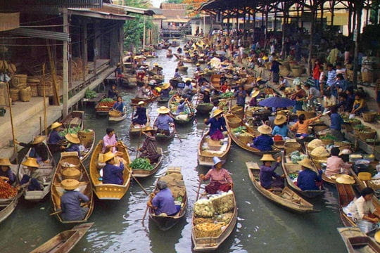Les marchés flottants de Bangkok