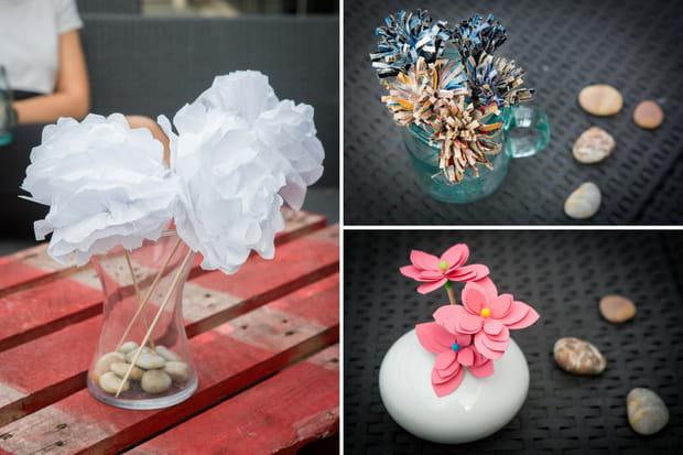 3 Bouquets De Fleurs En Papier Facile A Realiser