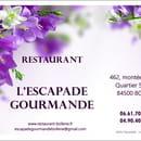 Restaurant : L'Escapade Gourmande  - Carte de visite -   © Facook64