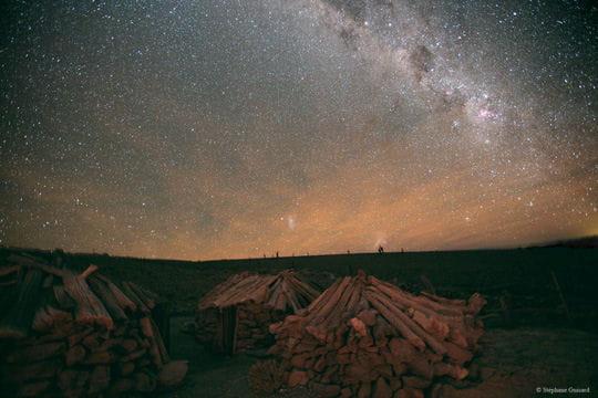 Des huttes chiliennes sous la Voie lactée