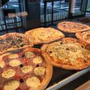 Plat : Boulangerie Ange Mérignac  - Grandes pizzas de 40cm cuites à l'italienne sur soles en pierre.  15 recettes au choix au même prix. Sur place ou à emporter -   © Laurent MOINDROT