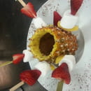 Dessert : Le Chalet du Lac  - Fondue au chocolat -