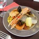 Plat : Les Longitudes  - Fideuà de poissons et crustacés -   © Corderie Royale