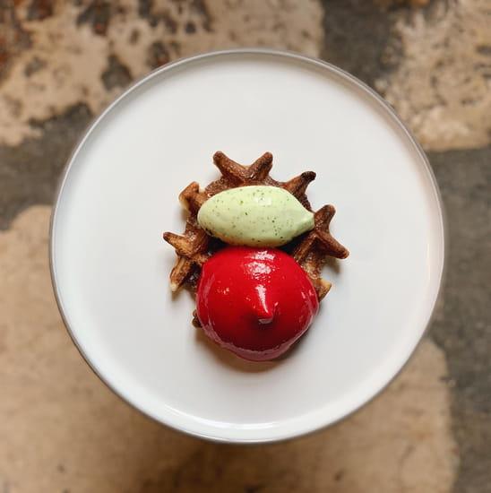 Dessert : Le Moulin de Ponceau  - La gaufre croustillante -   © Le moulin de ponceau