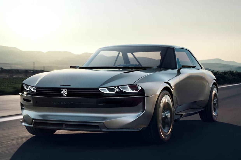 Peugeot e-Legend Concept, une version futuriste de la Peugeot 504 Coupé