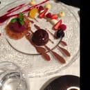 Dessert : L'Oustal del Barry  - Juste cuit au chocolat  -