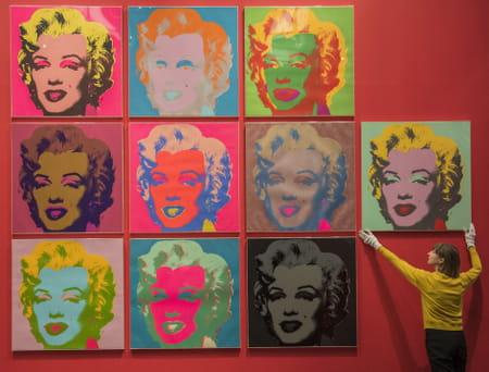 Sérigraphies de Marilyn Monroe, par Andy Warhol.