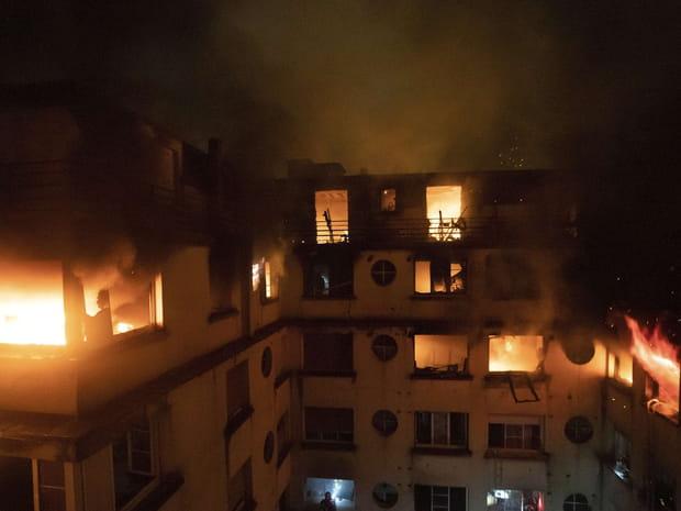 Les images de l'incendie mortel à Paris