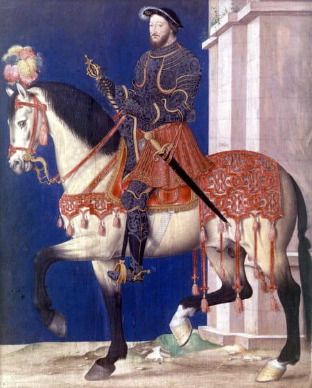 Gravure représentant François Ier à cheval