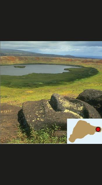 Le cratère du volcan de Poike