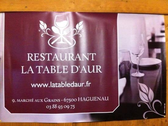 La Table d'Aur  - Banderole pub -