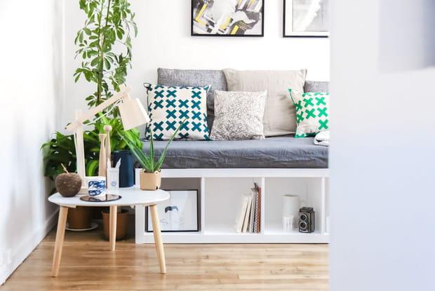 Une banquette à partir d'une étagère Ikea