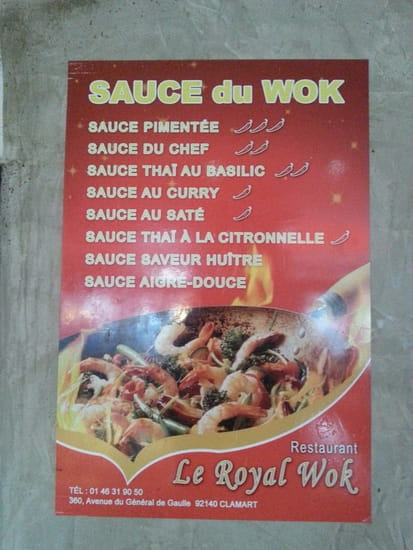 Le Royal Wok  - Sauces Wok -   © JPS