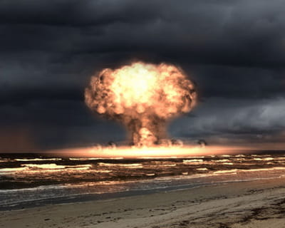 une explosion nucléaire.