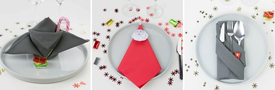 5pliages de serviettes faciles pour votre table de Noël