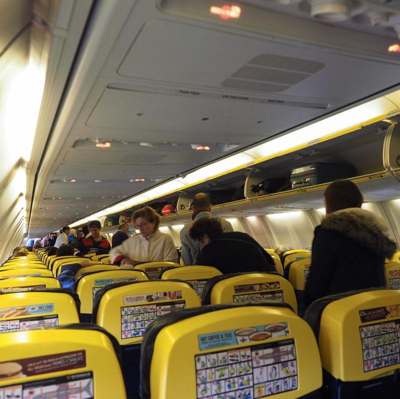 11e place ryanair for Interieur 737
