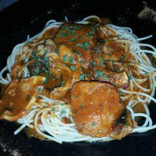 Plat : Le Gourmand  - Macaronade de poissons frais -