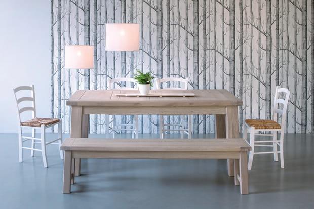 le banc int gr la table manger. Black Bedroom Furniture Sets. Home Design Ideas