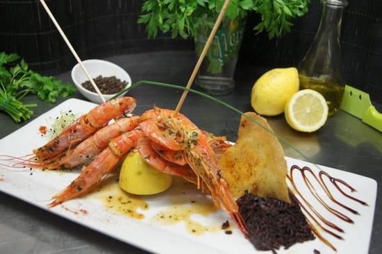 Restaurant Le Tama - Mini golf LE GREEN  - Gambas flambées au Muscat -