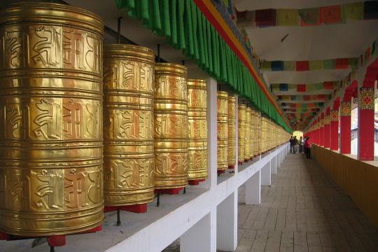 Dans une lamaserie du Sichuan