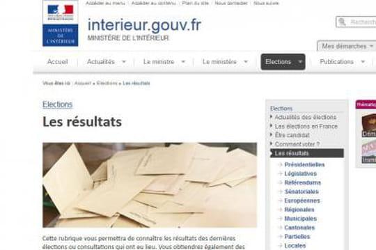 Résultat départementales: lessites qui lespublient surInternet