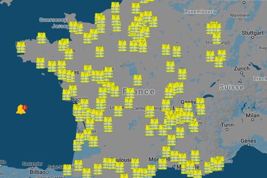 Blocages gilets jaunes: la carte des blocages prévus ce dimanche 17novembre 2019