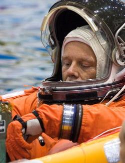 lors de leur formation, les astronautes effectuent de nombreux exercices sous