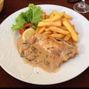Plat : Restaurant des Voyageurs  - Plat menu à 15€ escalope de volaille à la crème  -