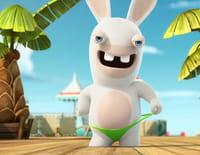 Les lapins crétins : invasion : Lapin 000. - Mad Lapin & clones crétins. - La mouche du Dr Mad Lapin
