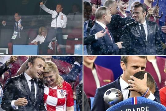 Emmanuel Macron: la présidente croate, le vestiaire des Bleus, le dab... Folle soirée!