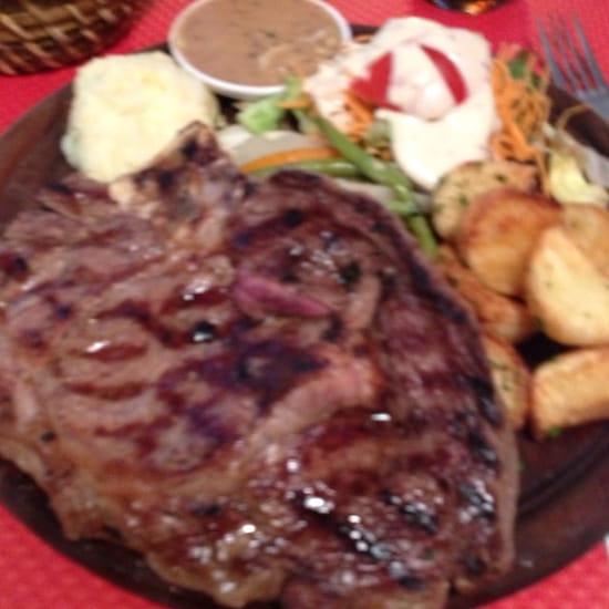 Plat : Les Rigoles  - Côté de bœuf sur planche -