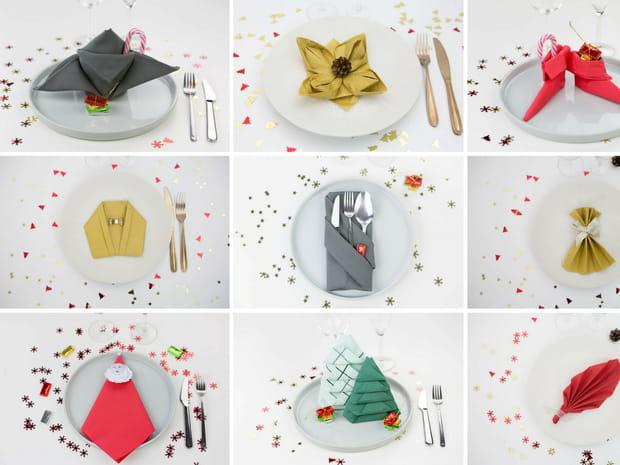 9pliages de serviettes faciles pour votre table de Noël