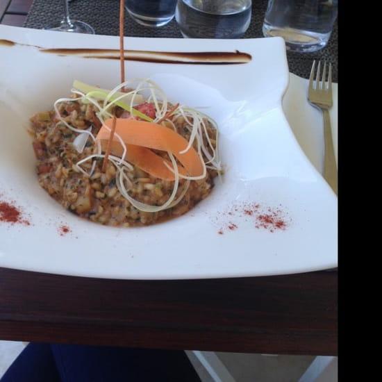 Plat : Restaurant des Iles  - Risotto au gambas et St Jacques -