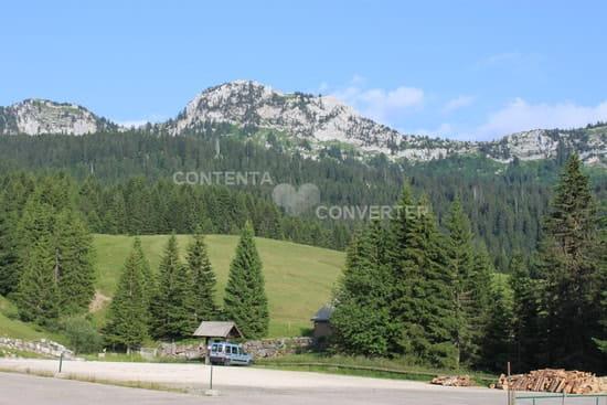 Restaurant Gautard - Chez Nathalie et Jean-Claude  - Vue du parking et des montagnes environnates -