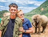 Muriel Robin et Chanee sur la terre des éléphants