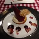 Dessert : Le Neptune  - Poire pochée sur sablé breton crème façon chères cake -