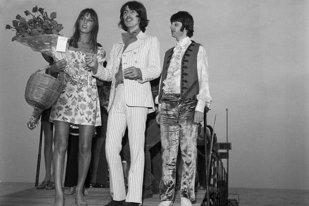 Jane Birkin, George Harrison et Ringo Starr sur la Croisette en 1968