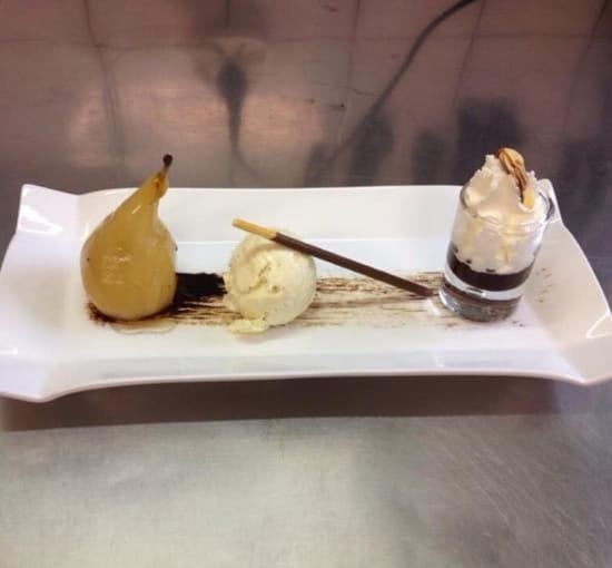 Dessert : L'Etna  - Poire pochée belle Hélène -