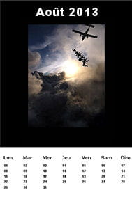 une des pages du calendrier créé avec tkexe kalender