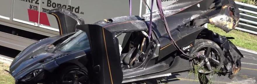 Koenigsegg One : l'une des voitures les plus chères du monde totalement détruite dans un crash