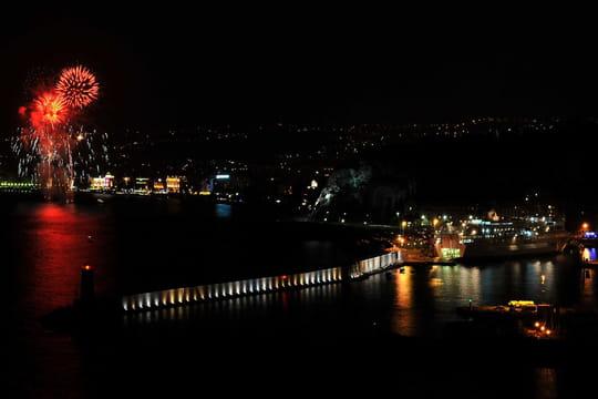 Feu d'artifice: le grand retour du spectacle pyrotechnique de Nice