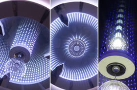 La conception d'un plafonnier lumineux effettunnel