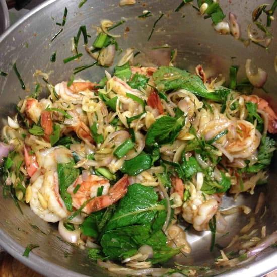 Kapunka  - salade de crevettes a la citronnelle -   © kapunka