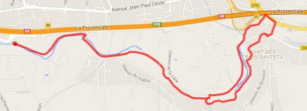 Aix-en-Provence : les bords de l'Arc et les Trois Sautets (6,6km)