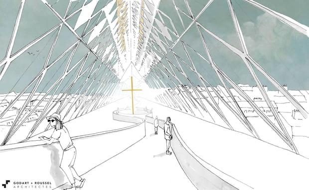 Godart & Roussel Architectes: un toit-promenade