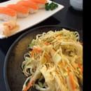 Entrée : Restaurant Watami (specialites japonaises)  - Salade de choux et sushis au Saumon frais !  -